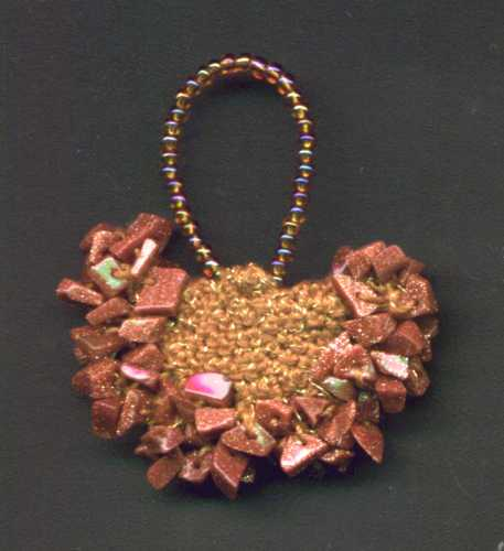 Goldstone Chip Pendant
